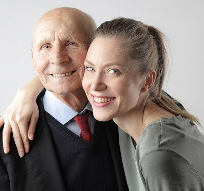 a daughter and her elderly parent