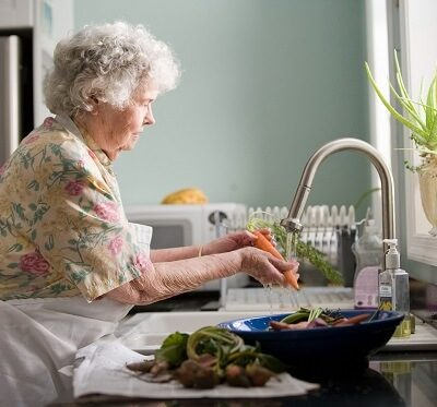 an elderly woman who could benefit from home helpers